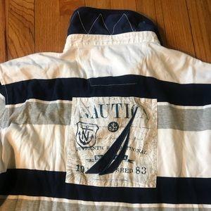 Nautica Graphic L/S Rugby Shirt Sz Lg/L19